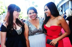 Shari Sebbens, Deb Mailman and Jessica Mauboy from THE SAPPHIRES on the red carpet at the 2nd AACTA Awards.