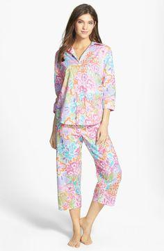 RALPH LAUREN Capri Pajamas Delray Floral Multi $59