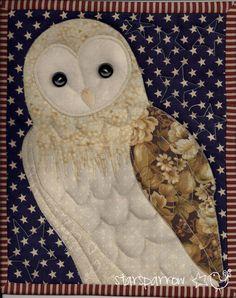 Barn Owl Quilt...beautiful face...