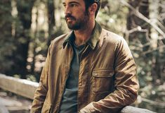 Mens The Outdoors Collection waxed khaki jacket Taylor Stitch Mens Canvas Jacket, Mens Wax Jackets, Cute Couple Outfits, Taylor Stitch, Waxed Cotton Jacket, Jacket Images, Khaki Jacket, Outdoor Fashion, Field Jacket