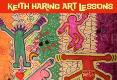original-keith haring gesture drawing/ show action