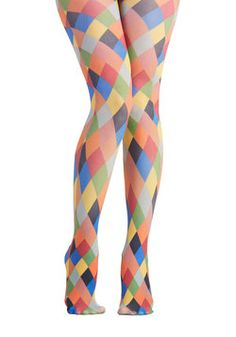 Pinball Wisdom Tights. Your admirers at the arcade dont know what to applaud first - the high score you just hit or the perfectly playful outfit you did it in! #multi #modcloth