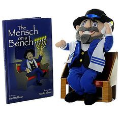"""Create new Hanukkah traditions with """"The Mensch on a Bench"""" Hardcover Book and your own Plush Doll of Moshe the Mensch. Your children will have fun learning about the story of Hanukkah through the charming character of Moshe. Hanukkah Traditions, Hanukkah Gifts, Hannukah, Happy Hanukkah, The Elf, Elf On The Shelf, Mensch On A Bench, Christmas Wishes, Christmas Ideas"""