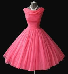 this would make an awesome retro bridesmaid's dress! so pink!