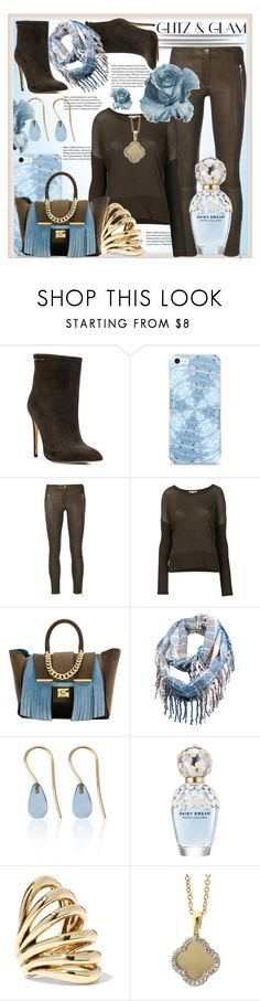 """Glitz & Glam... Chocolate Blue & Gold"" by helenaymangual ❤ liked on Polyvore featuring Gianni Renzi, Arma, James Perse, Alila, Love Is, Marc Jacobs and Lisa Eisner"