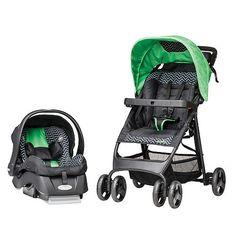 "Evenflo FlexLite Travel System Stroller - Green Chevron - Evenflo - Babies ""R"" Us"