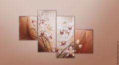 """""""Орхидеи"""" объемная фреска. Автор - Флоритолла"""