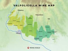 Amarone della Valpolicella Wine Region map by Wine Folly