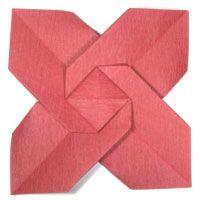 origami christmas flower, poinsettia
