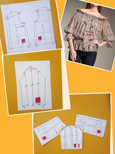 Tunic Sewing Patterns, Sewing Blouses, Designer Blouse Patterns, Clothing Patterns, Dress Patterns, Blouse Designs, Quilt Patterns, Costura Fashion, Moda Fashion