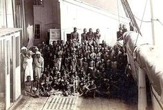 One of the rare photographs of a slave ship. This was done by Marc Ferrez in 1882.