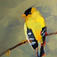 "Daily Paintworks - ""Goldfinch no. - Original Fine Art for Sale - © Angela Moulton Bug Art, Goldfinch, Bird Drawings, Dog Paintings, Wildlife Art, Art Oil, Painting Inspiration, Flower Art, Cool Art"