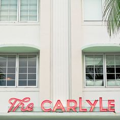 Miamis south beach art deco district - The Carlyle Hotel - 8x8 12x12 photography neon sign