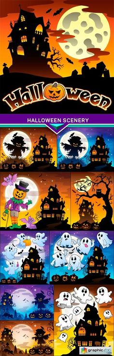 Vintage Halloween poster design 8 - 25 EPS Game Ideas Pinterest - halloween poster ideas