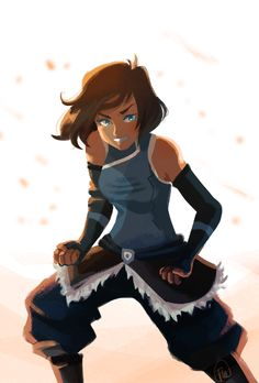 "manlyrainbow: ""Made Korra from a sketch in my notebook. """