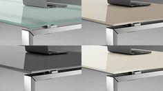Glaschreibtisch Schreibtisch Mit Glasplatte In Verschiedenen Ausführungen  Und Farben Schreibtisch Mit Satinierter Glasplatte Oder Lackierter  Glasplatte