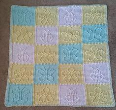 Ravelry: 72 Nature pattern by Glee Brown Workman Crochet Bobble Blanket, Bobble Stitch Crochet, Crochet Stitches Chart, Crochet Doily Rug, Crochet Motifs, Boy Crochet Patterns, Crochet Blocks, Crochet Squares, Baby Patterns