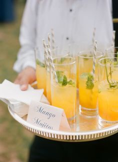 mango mojitos, great for the cocktail hour