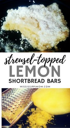 Lemon Shortbread Bars feature a delicious streusel topping & a dusting of powdered sugar. This recipe is perfect for tea time, dessert time or any time