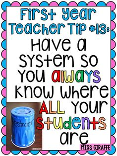 First year teacher tips and advice - Are you a first year teacher? I am so excited to share A TON of first year teaching tips and advice wit. Kindergarten Classroom Management, Classroom Behavior, Kindergarten Teachers, Classroom Organization, Classroom Ideas, Classroom Design, 1st Year Teachers, First Year Teaching, Primary Teaching