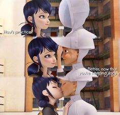 miraculous ladybug marinette and adrien Les Miraculous, Miraculous Ladybug Kiss, Miraculous Ladybug Fanfiction, Ladybug And Cat Noir, Meraculous Ladybug, Ladybug Comics, Ladybugs, Ladybug Cakes, Adrian And Marinette