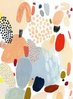 Peinture abstraite et colorée Abstract Pattern, Pattern Art, Abstract Art, Textures Patterns, Print Patterns, Kate Pugsley, Surface Pattern Design, Art Design, Cute Wallpapers