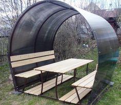 Беседка для дачи - практичная и доступная садовая мебель