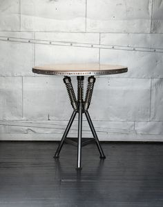 Commissioned by a tattoo studio in Maryland, we liked this table so much, we decided to offer it for sale. One of these days, we picture 20 or 30 of them adorning our new bike studio and café. Could happen sooner than you think.