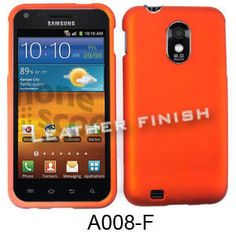 Unlimited Cellular Snap-On Cover for Samsung Galaxy S2 Epic 4G D710/R760 (Honey Burn Orange, Leather Finish)