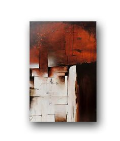Abstract Painting on Canvas Painting for sale Orange & Brown by heatherdaypaintings
