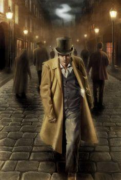 London gangster Mafia, Fantasy, Steampunk, Mystery, Raincoat, Jackets, Imagination, Image, London