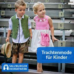Salzburger Heimatwerk -  Tracht für Kinderr Girls Dresses, Flower Girl Dresses, Wedding Dresses, Fashion, Flower Girl Gown, Dirndl, Jackets, Breien, Kids