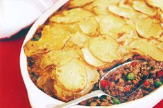 Crunchy potatoes on the top make this cottage pie deliciously different.
