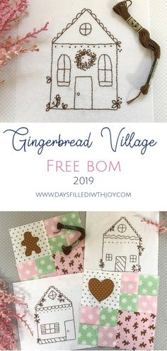 Gingerbread Village ~ Free Block of the Month 2019 - Days Filled With Joy