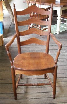 Deluxe Ladder Back Arm Chair, Hard Wood; See Us For Reclaimed Barn Wood  Furniture, Handmade In Lancaster County, PA, With A Showroom In  Intercourse, PA