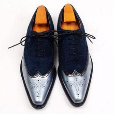 70738bdfddd Men Dress Shoes Oxfords Shoes Custom Handmade Shoes Genuine Calf Leather  Wingtip Brogue Shoes New Arrival