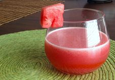 Watermelon-Strawberry Water:  think I'll try to sub out one of those cups of water for a cup of Titos Vodka.