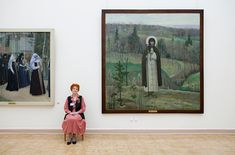 """Any Freeberg """"GUARDIANS"""" Nesterov's Blessed St Sergius of Radonezh, Russian State Museum"""