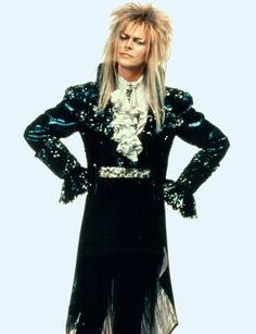 Bowie for his 1986 film, Labyrinth. This was my first Bowie film. David Bowie Labyrinth, Labyrinth 1986, Labyrinth Movie, Jareth Labyrinth, Labrynth, Goblin King, Arcade Fire, Thing 1, Jim Henson