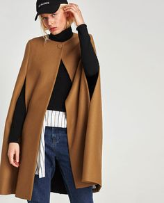 Image 2 of LONG CLOTH CAPE from Zara