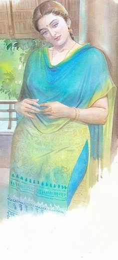 Indian Women Painting, Indian Art Paintings, Sexy Painting, Painting Of Girl, Cartoon Girl Drawing, Cartoon Art, Art Painting Gallery, Watercolor Landscape Paintings, India Art