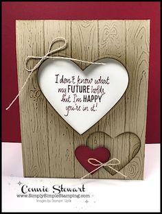 Trendy wedding card handmade stampin up embossing folder ideas Wedding Cards Handmade, Greeting Cards Handmade, Heart Cards, Valentine Day Cards, Valentines, Masculine Cards, Love Cards, Stamping Up, Embossing Folder