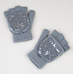 Ladies Sequin Convertible Gloves