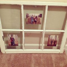My antique window frame I picked up for our wedding to display our photos