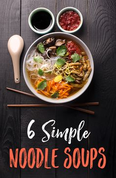 Stay warm this winter with these delicious noodle soups. Healthy ramen will always be a win-win situation for you, your body and your soul. Asian Recipes, Healthy Recipes, Ethnic Recipes, Yummy Recipes, Amazing Recipes, Soup Recipes, Cooking Recipes, Kid Cooking, Recipies
