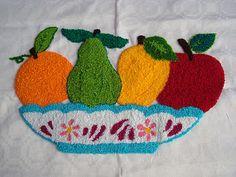 Adrialys criações artesanais: Obras em andamento: Ponche de frutas Needle