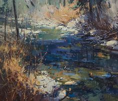 Meandering by Jill Carver Oil ~ 26 x 30