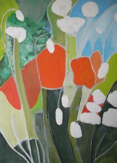 Schildering 34 : 'Bloemrijk 1' ('Flowery 1') -  Olieverf op doek 'Oil on canvas) -  50 cm x 70 cm (19.7 in x 27.6 in) -  17 augustus 2013 (Aug 17, 2013-