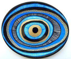 evil eye decorative plate