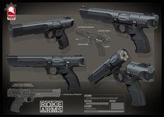 .357 Magnum Tactical Revolver, Kris Thaler on ArtStation at https://www.artstation.com/artwork/357-magnum-tactical-revolver